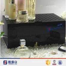 Venta al por mayor cosméticos de la tapa del mostrador de acrílico de perfume con cajón