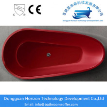 Whirlpool freestanding tub seamless  red spa tub