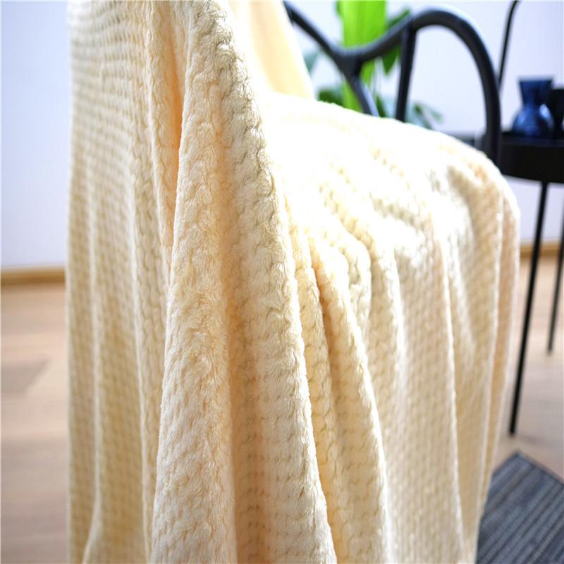 Dyed Coral Fleece Blanket