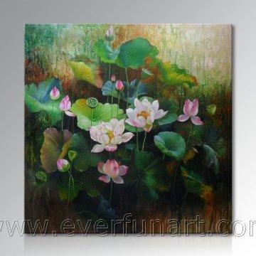 Décoration murale Belle peinture à la fleur de lotus (ERH-108)