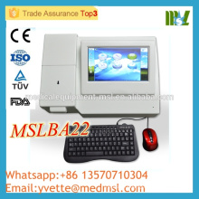 MSLBA22M CE & ISO approved Semiautomatic biochemistry analyzer work with keyboard mouse