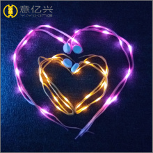 colorful led lighted shoelaces at the party