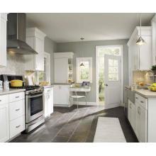 Cabinet de cuisine en bois massif en forme de L Conception de cuisine sur mesure