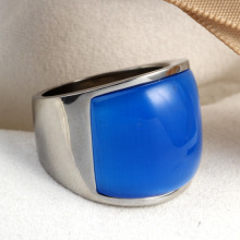 Mens Stainless Steel colorful Diamond Ring