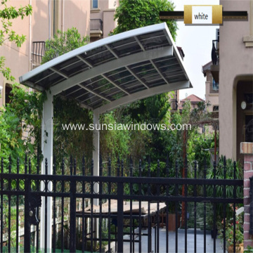 Aluminum Attached Wall Car Shed Cover