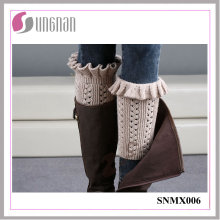 2015 Winter Creative Elegant Women Bud-Shaped Leg Warmers Knitting Socks