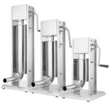 Máquina de prensa vertical para salsicha com 4 bicos de enchimento