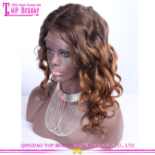 Qingdao supplier hot selling wave two tone human hair wig
