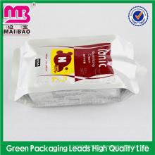 muchas muestras para bolsa de envasado de detergente líquido espumante libre con pico