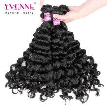 Melhor venda italiana encaracolado peruano cabelo humano tecer