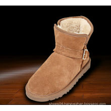 Latest design european style velvet women leather winter half martin boots