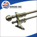spray telescopic Aluminum curtain rod with finials and rings