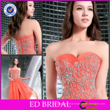 Graceful OEM Service A-line Strapless Sweetheart Neckline Beaded Dollar Evening Dresses ED-YH223