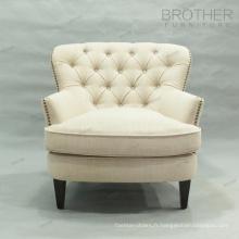 Moderne style français tissu unique siège canapé chaise d'appoint
