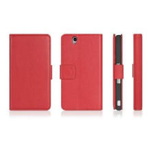 Sony Cell Phone Cases, Xperia Z Red PU Stand Cover with Car