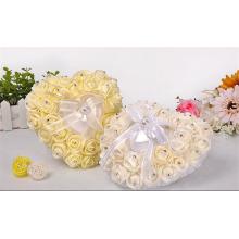 Nupcial boda ceremoy decoración alta calidad hermosa portadora almohada al por mayor