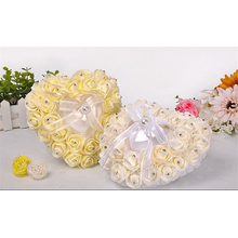 Свадебные ceremoy украшения высокое качество красивые кольца на предъявителя подушка оптовая