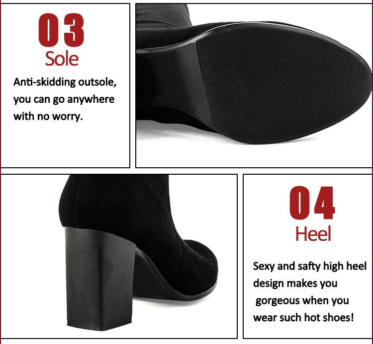 black suede half heel good quality boots