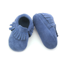 Suede Blue Suede Leather Moccasins Wholesales