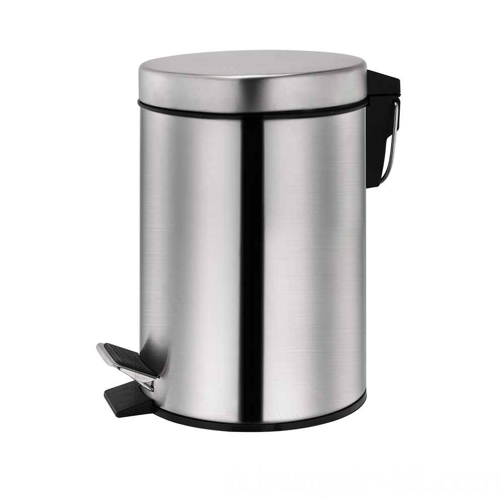 Stainless Steel Round Shape Trash Bin