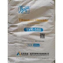 Dioxyde de titane de qualité plastique