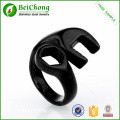 316 Stainless Steel Black And Gold Man Spanner Wrench Ring