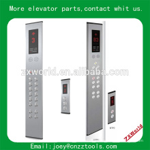 Ascenseur flip de verre tactile et lop ascenseur panneau de boutons standard pan et lop panneau de flèche d'ascenseur