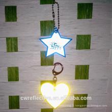 Glow in the Dark Porte-clés réfléchissant pour les cadeaux