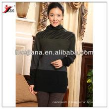 Antipilling suéter feminino de gola de caxemira