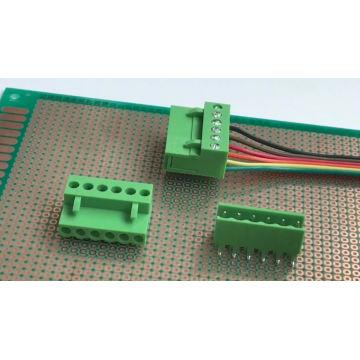 Bloques de terminales conectables PCB con paso de 3.96MM