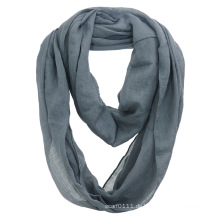 Frauen Fashion Plain Farbe Baumwolle Voile Infinity Herbst Schal (YKY1111)