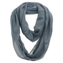 Женская мода обычная Цвет хлопок вуаль бесконечность шарф Осень (YKY1111)