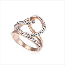 VAGULA glänzende Strass Design Fashion Ring