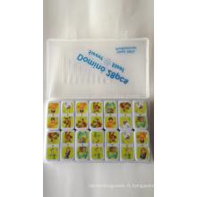 jeu éducatif de domino de jouet d'urée avec l'impression chaude de transfert de personnaliser