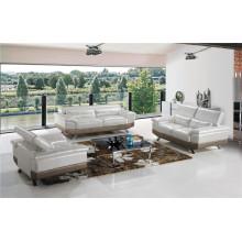 Canapé en cuir de chaise en cuir véritable Canapé inclinable électrique (748)