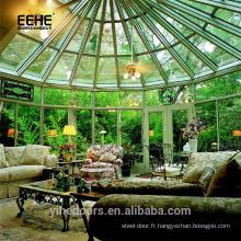 Maisons en verre préfabriquées et maison en dôme en Inde Prix de la pièce extérieure en verre