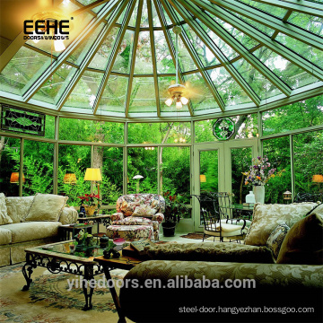 Beautiful Design Glass Green Garden House Free Standing Sun rooms