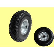 Wheels 300-4 PU, Metal Rim F16 Hole and Hub Length 51mm, with Roller Bearings Hole 20mm