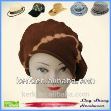 2015 hizo punto el sombrero del algodón El otoño del sombrero del invierno de las mujeres hizo punto el sombrero del sombrero de la boina, LSC02