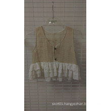 Lace Ruffle Vest Cotton Body Layer Lace and Chifon Clothing