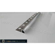 10mm Silver Brushed Aluminum Radius Edge Floor Trim