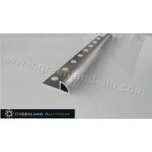 10 milímetros de prata escovado de alumínio Radius Edge Floor Trim