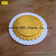 Hersteller-Goldkarten-Auflage-runde Minikuchen-Bretter, Kuchen-Trommeln