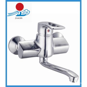 Brass Body Wall-Mounted Kitchen Sink Faucet (ZR21003)