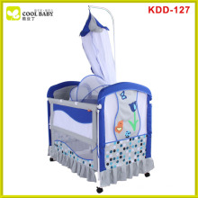Stainless steel multi-functional baby crib