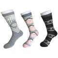 Half Cushion Cotton Fashion Logo Sport Black Socks (JMCC09)
