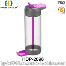 Wholesale 700ml Newly Plastic Water Bottle, BPA Free Tritan Water Bottle with Straw (HDP-2098)