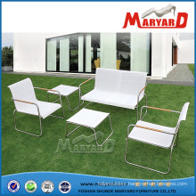 Stainless Steel + Sling Textile Material Garden Sofa Set