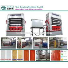 Machine de pressage à chaud hydraulique pour portes à panneaux multi-couches