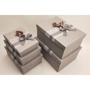 Caja de embalaje conjunto de joyas personalizadas
